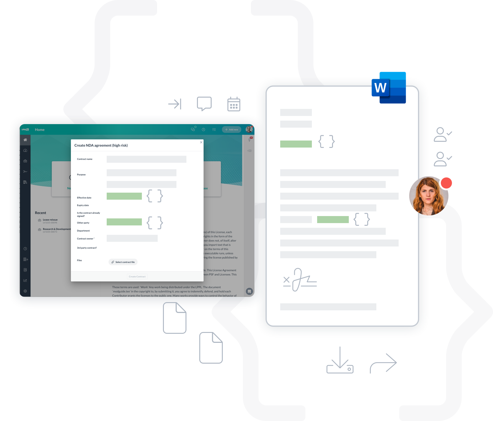 Lawvu contract management can create self-service templates and contract automation.