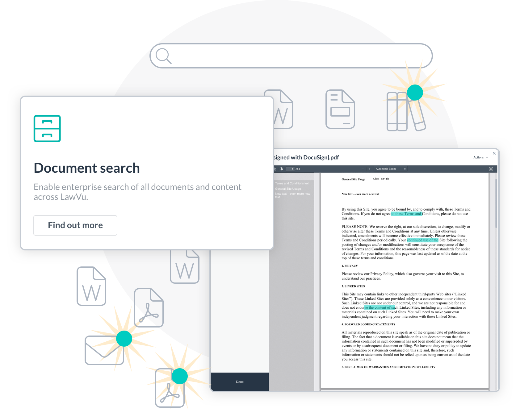 Search with Lawvu in-house legal software knowledge & document management.
