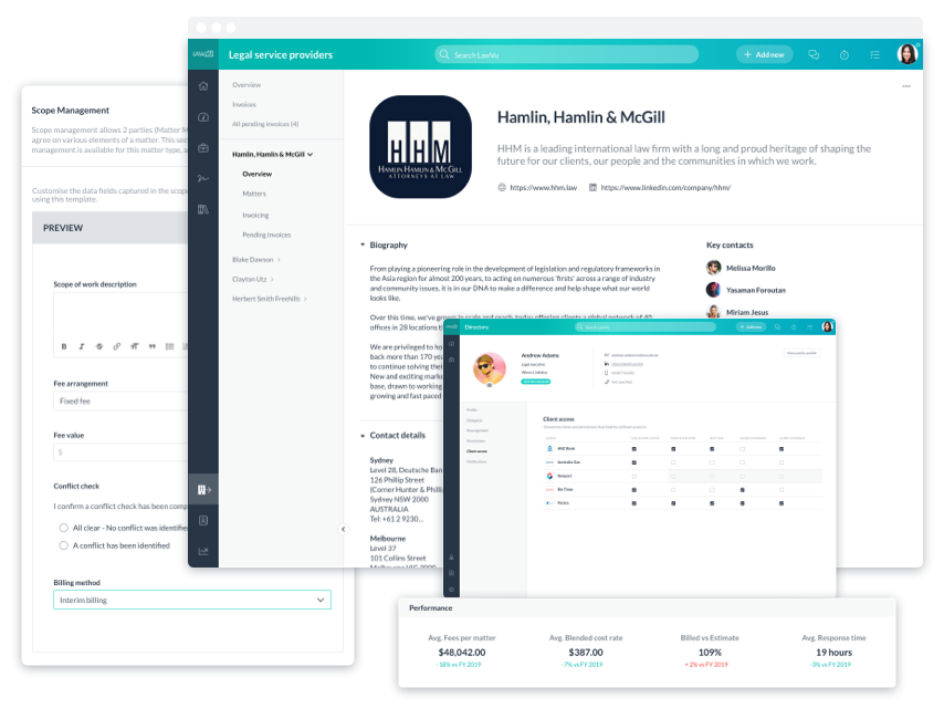 E-billing, vendor and spend management tools in Lawvu.